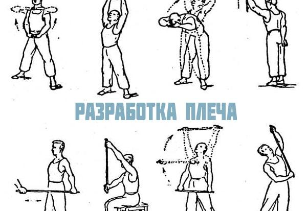 Видео упражнения для разработки плечевого сустава деформация плечевого сустава